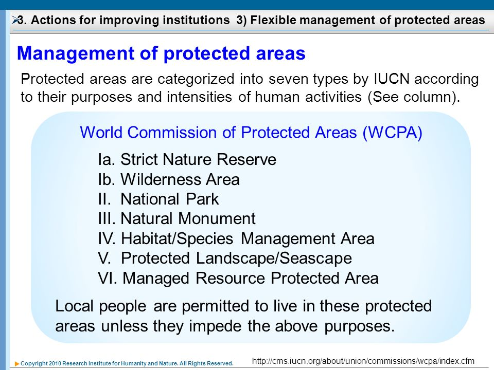 World Commission of Protected Areas (WCPA)