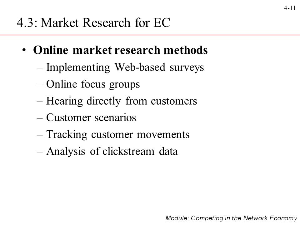 4.3: Market Research for EC