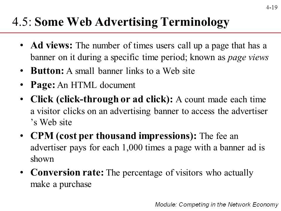 4.5: Some Web Advertising Terminology