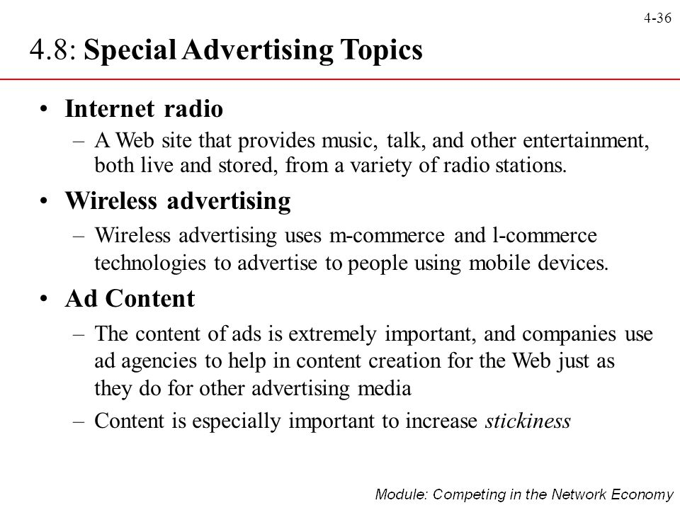 4.8: Special Advertising Topics