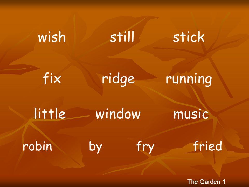 wish still stick fix ridge running little window music robin by fry