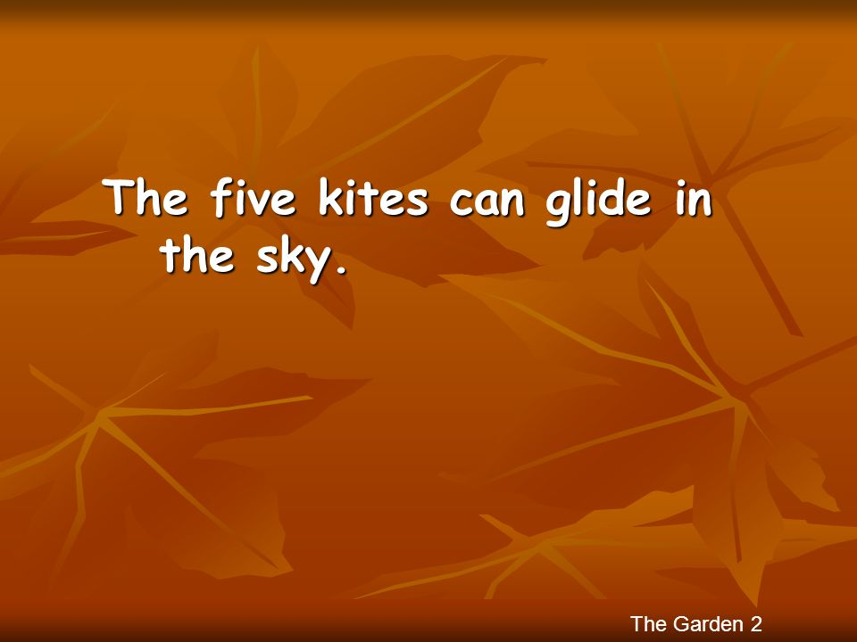 The five kites can glide in the sky.