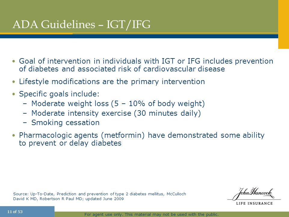ADA Guidelines – IGT/IFG