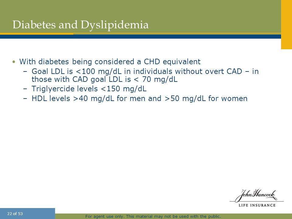Diabetes and Dyslipidemia