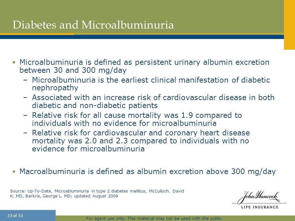 Diabetes and Microalbuminuria