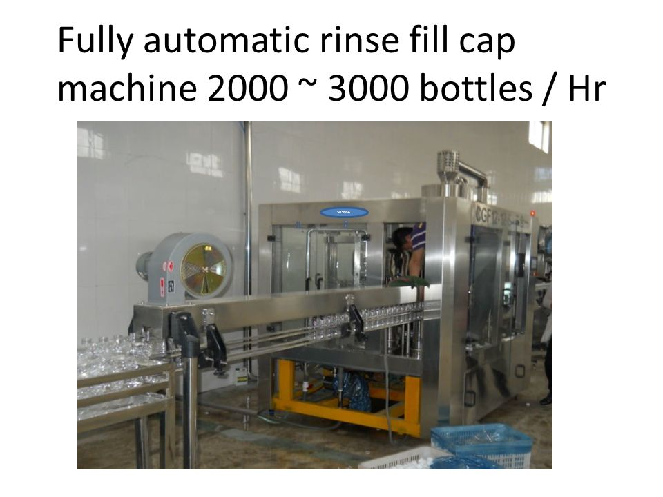 Fully automatic rinse fill cap machine 2000 ~ 3000 bottles / Hr