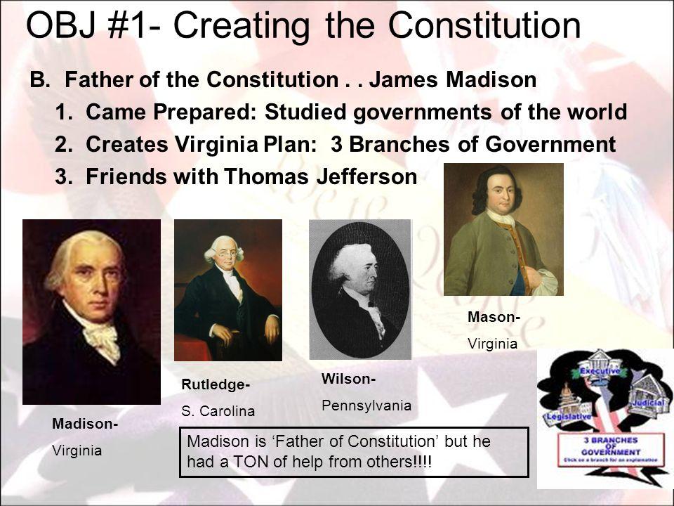 OBJ #1- Creating the Constitution