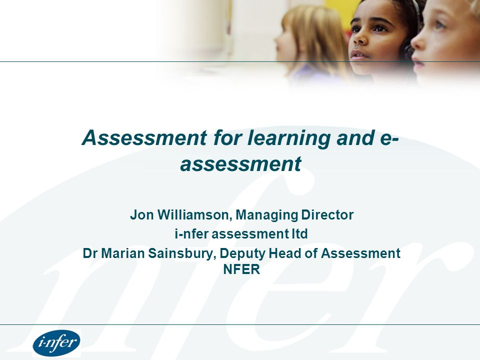 Assessment for learning and e-assessment