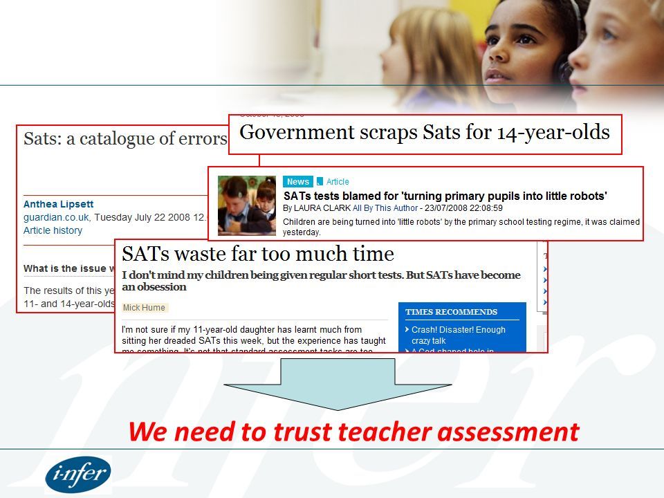 We need to trust teacher assessment