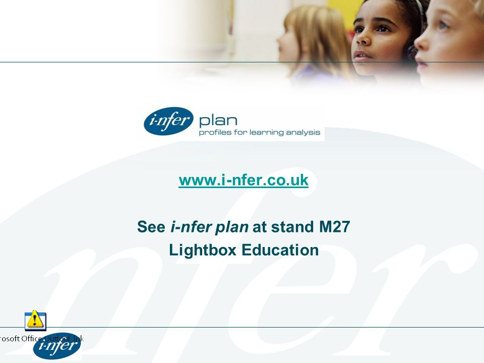 See i-nfer plan at stand M27