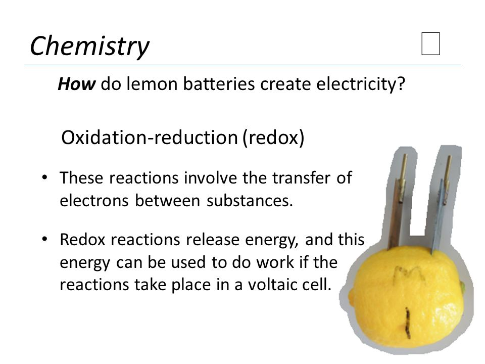 ★ Chemistry Oxidation-reduction (redox)