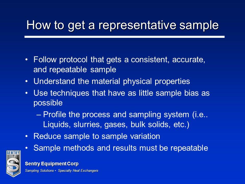 How to get a representative sample