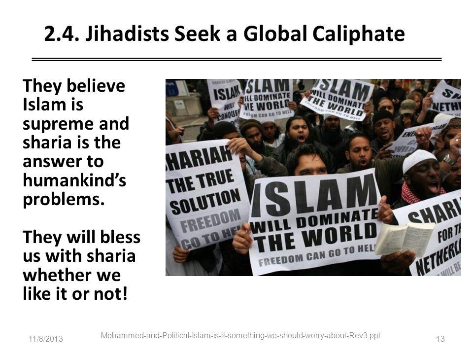 2.4. Jihadists Seek a Global Caliphate