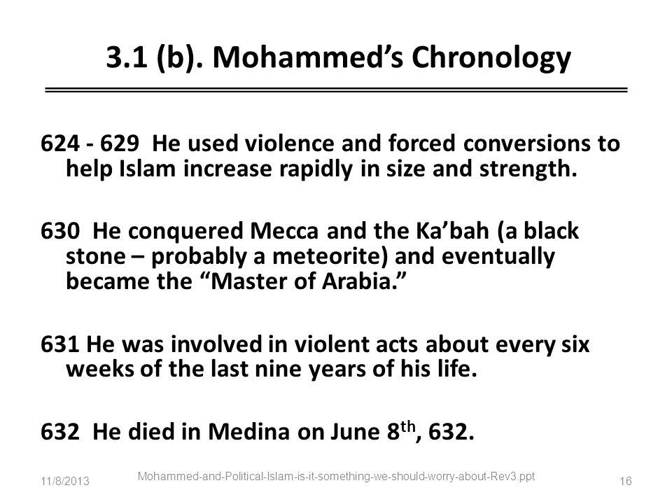 3.1 (b). Mohammed's Chronology