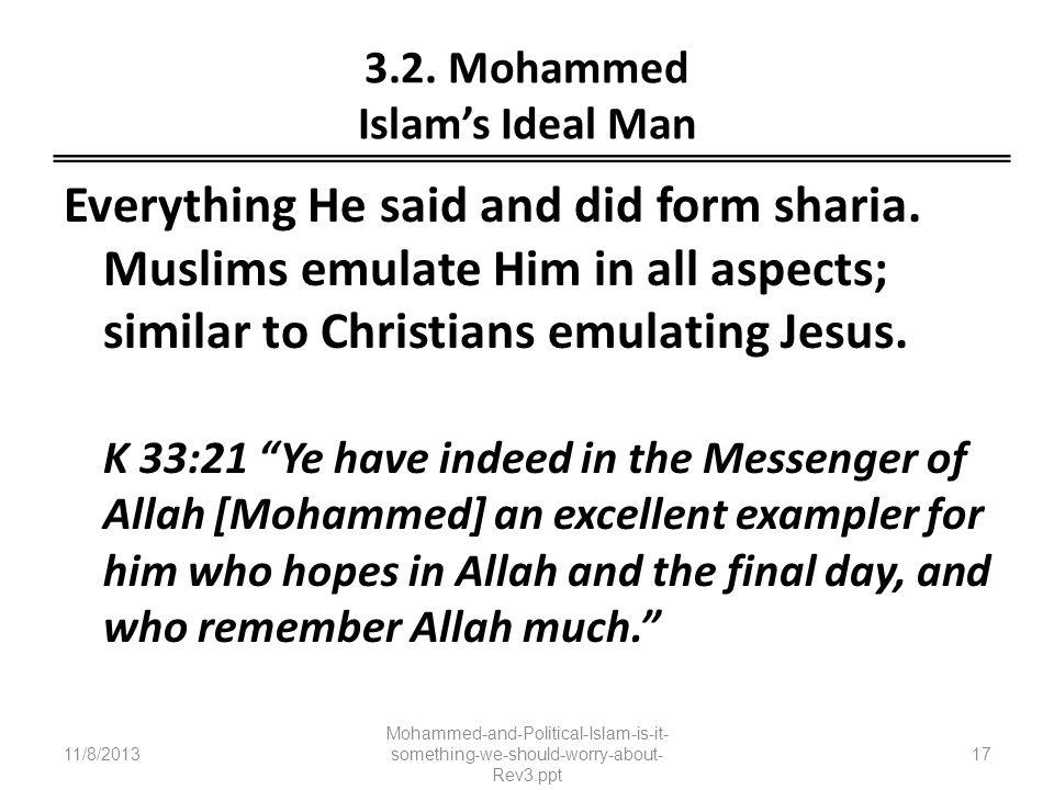 3.2. Mohammed Islam's Ideal Man