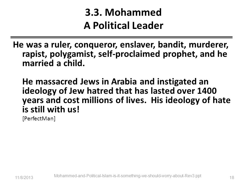 3.3. Mohammed A Political Leader