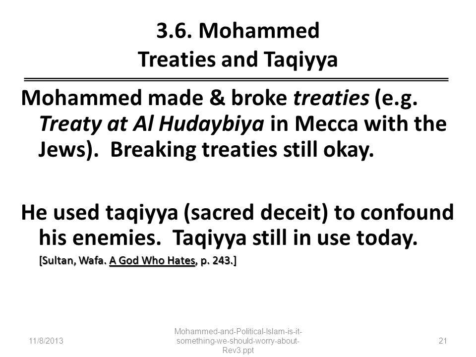 3.6. Mohammed Treaties and Taqiyya