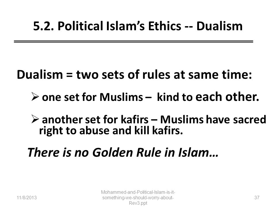 5.2. Political Islam's Ethics -- Dualism