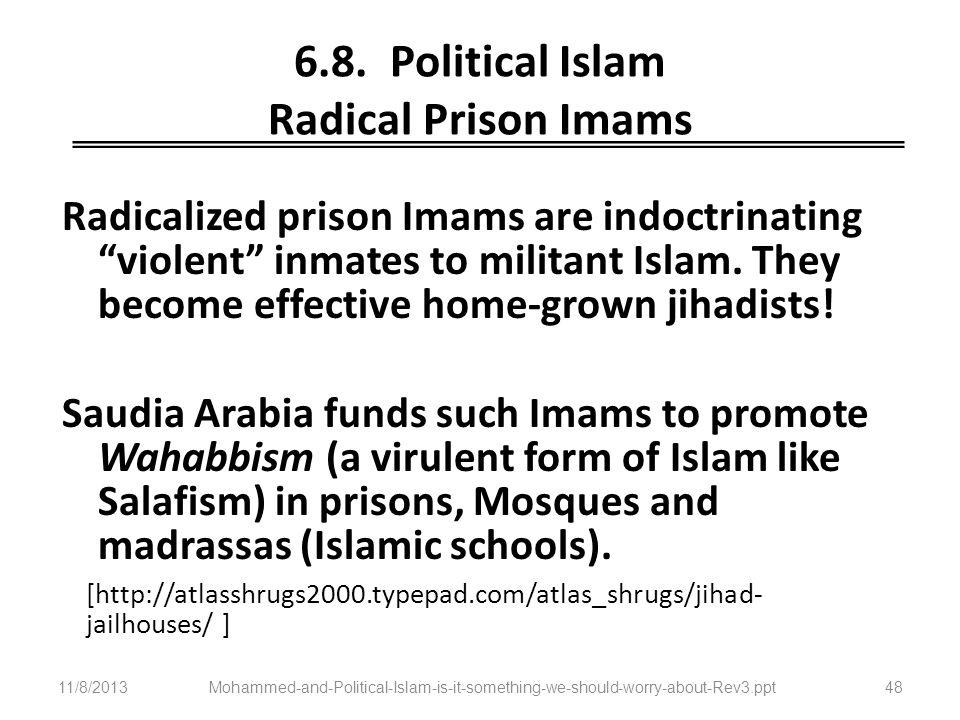 6.8. Political Islam Radical Prison Imams