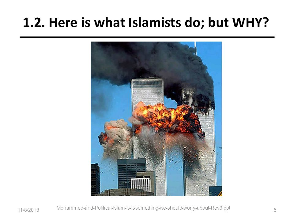 1.2. Here is what Islamists do; but WHY