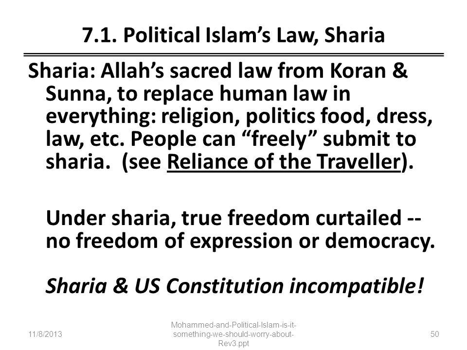 7.1. Political Islam's Law, Sharia