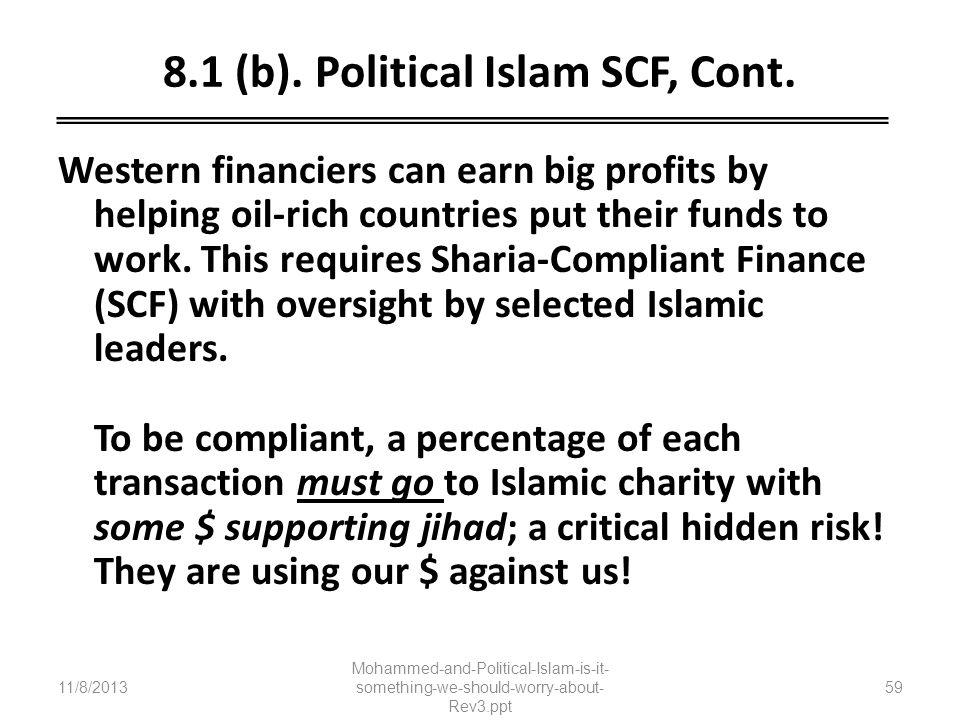 8.1 (b). Political Islam SCF, Cont.