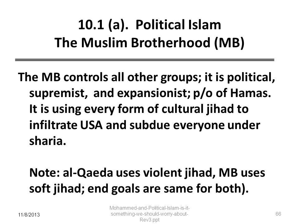 10.1 (a). Political Islam The Muslim Brotherhood (MB)