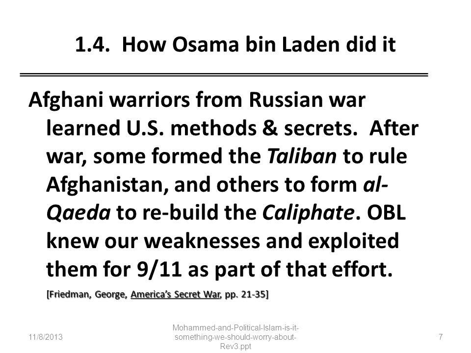 1.4. How Osama bin Laden did it