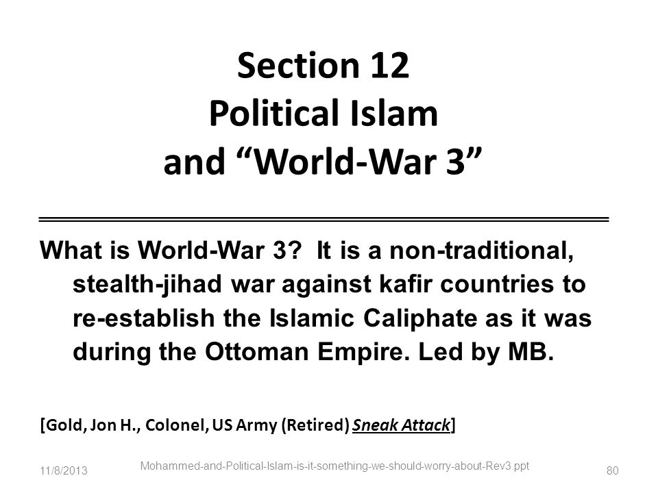 Section 12 Political Islam and World-War 3