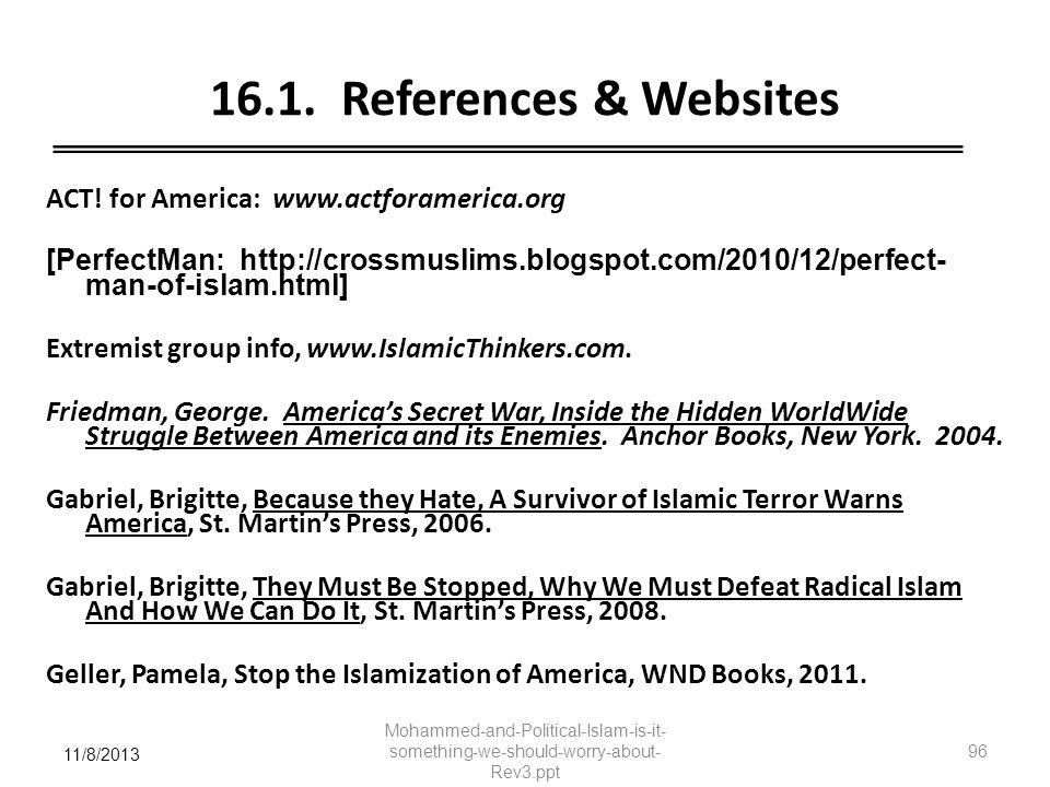 16.1. References & Websites
