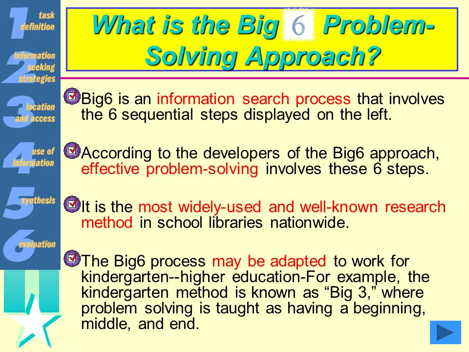 What is the Big Problem-Solving Approach