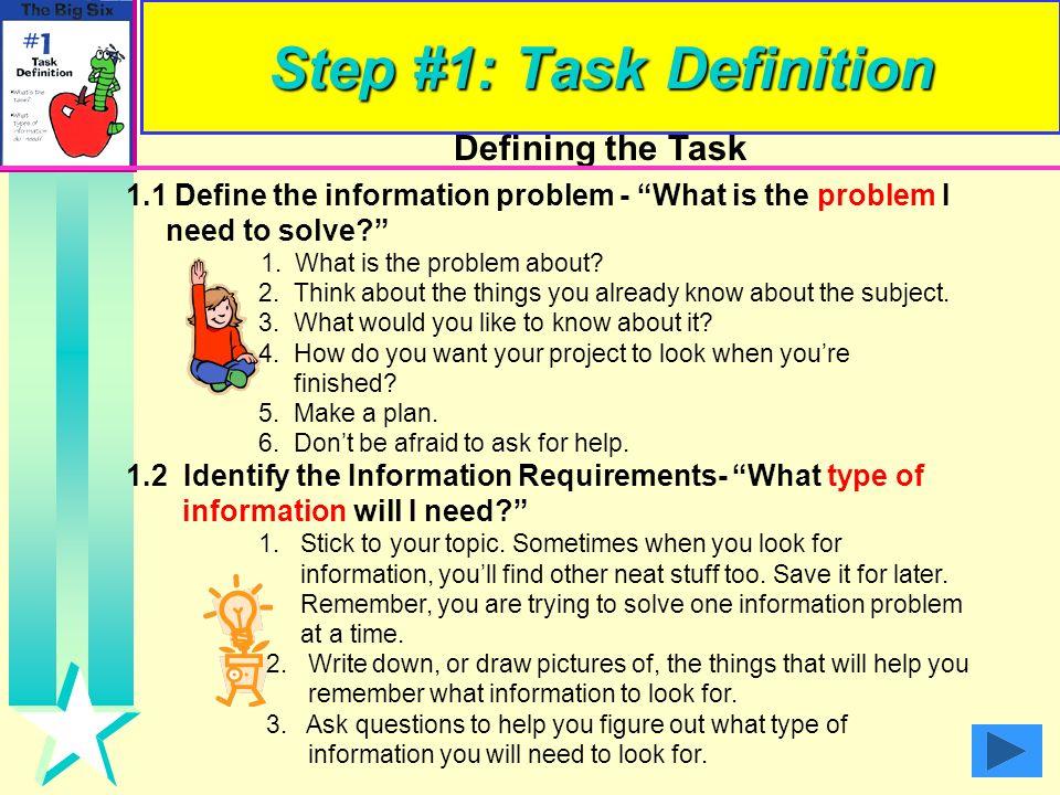 Step #1: Task Definition
