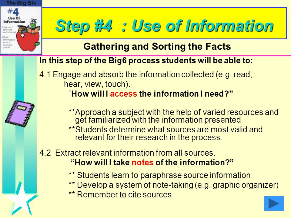 Step #4 : Use of Information