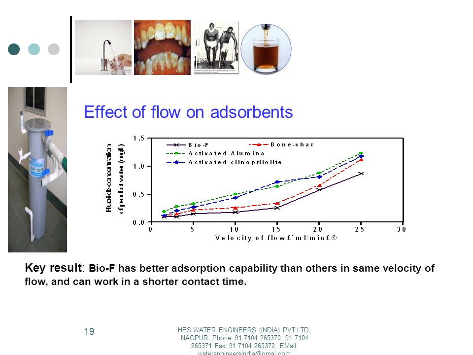Effect of flow on adsorbents