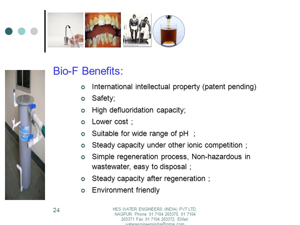 Bio-F Benefits: International intellectual property (patent pending)