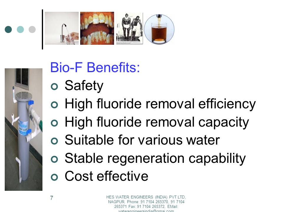 High fluoride removal efficiency High fluoride removal capacity
