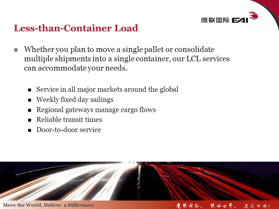 Less-than-Container Load