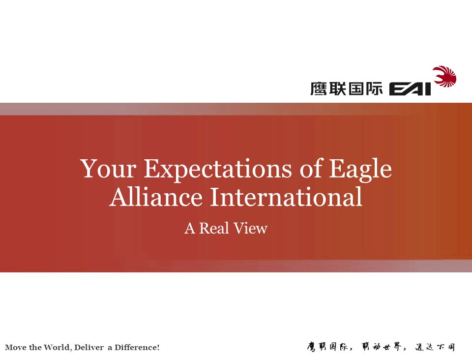 Your Expectations of Eagle Alliance International