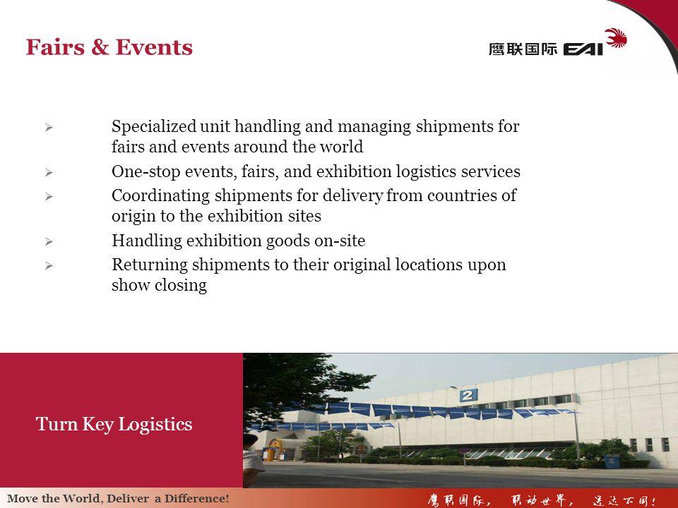 Fairs & Events Turn Key Logistics