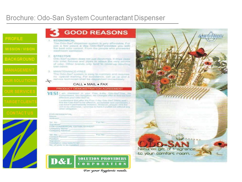 Brochure: Odo-San System Counteractant Dispenser