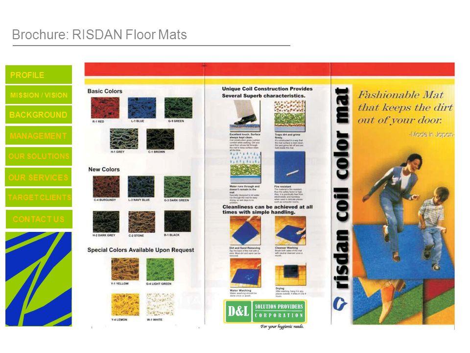 Brochure: RISDAN Floor Mats