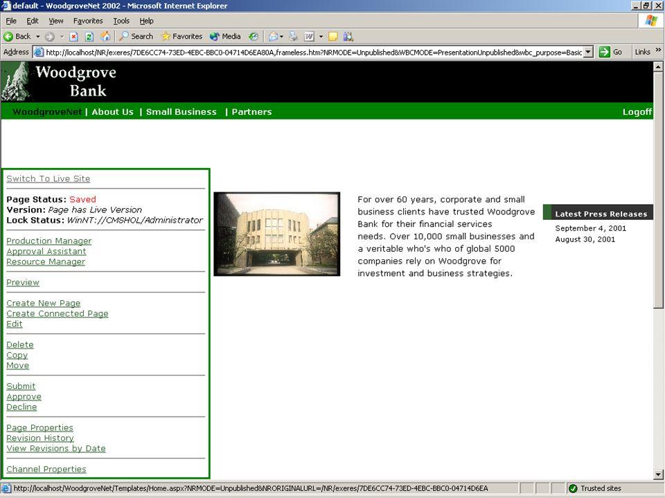 <Screenshot> <Web Author per stap op laten bouwen>