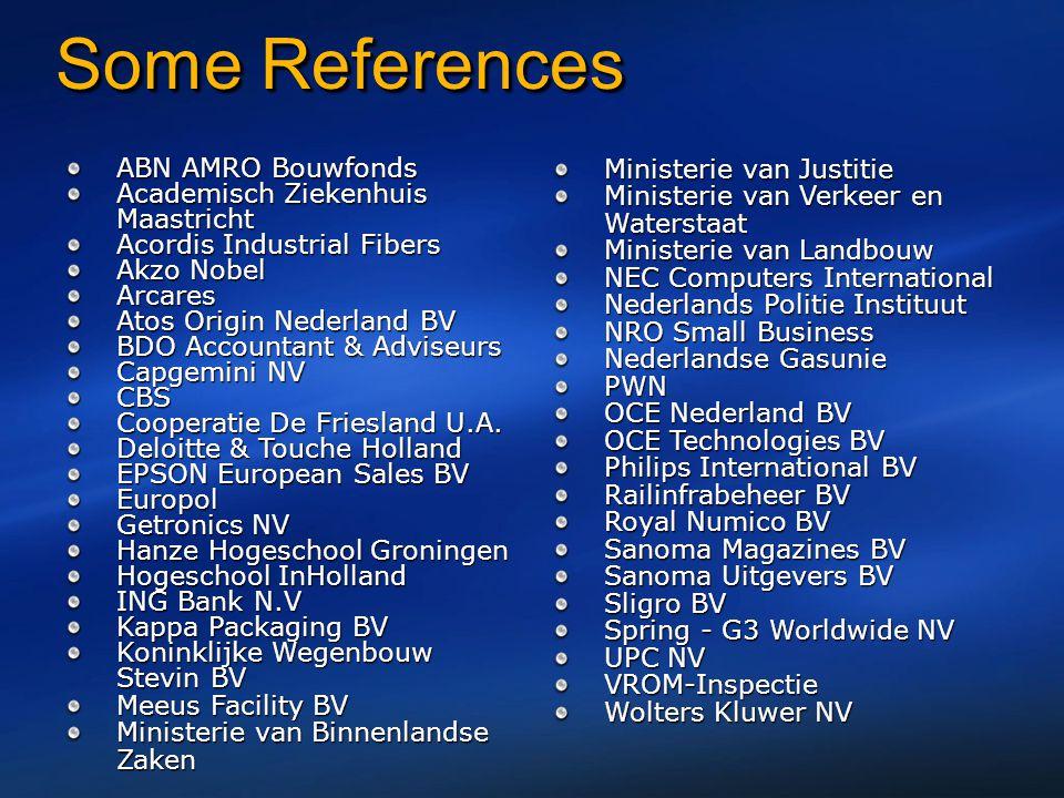 Some References ABN AMRO Bouwfonds Academisch Ziekenhuis Maastricht