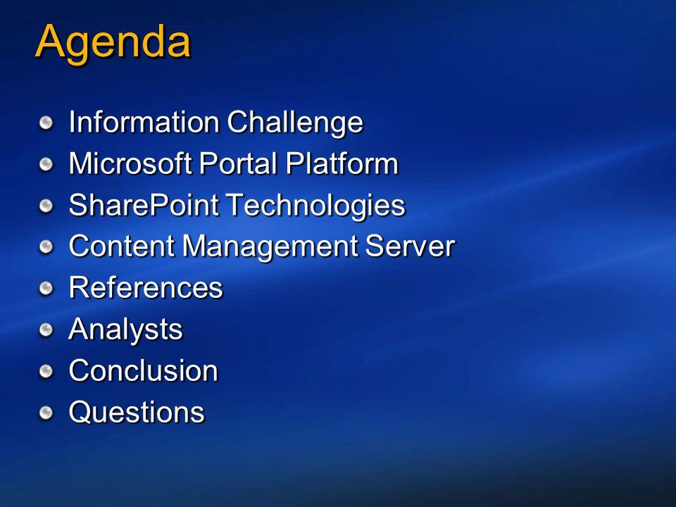 Agenda Information Challenge Microsoft Portal Platform