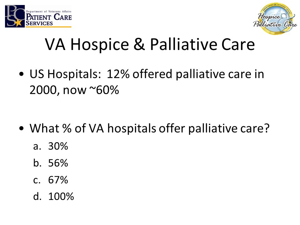 VA Hospice & Palliative Care