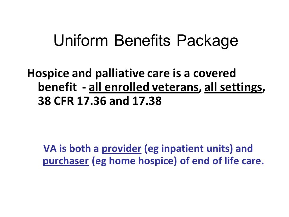 Uniform Benefits Package