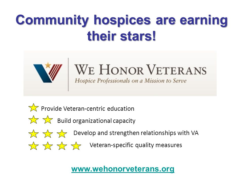 Community hospices are earning their stars!