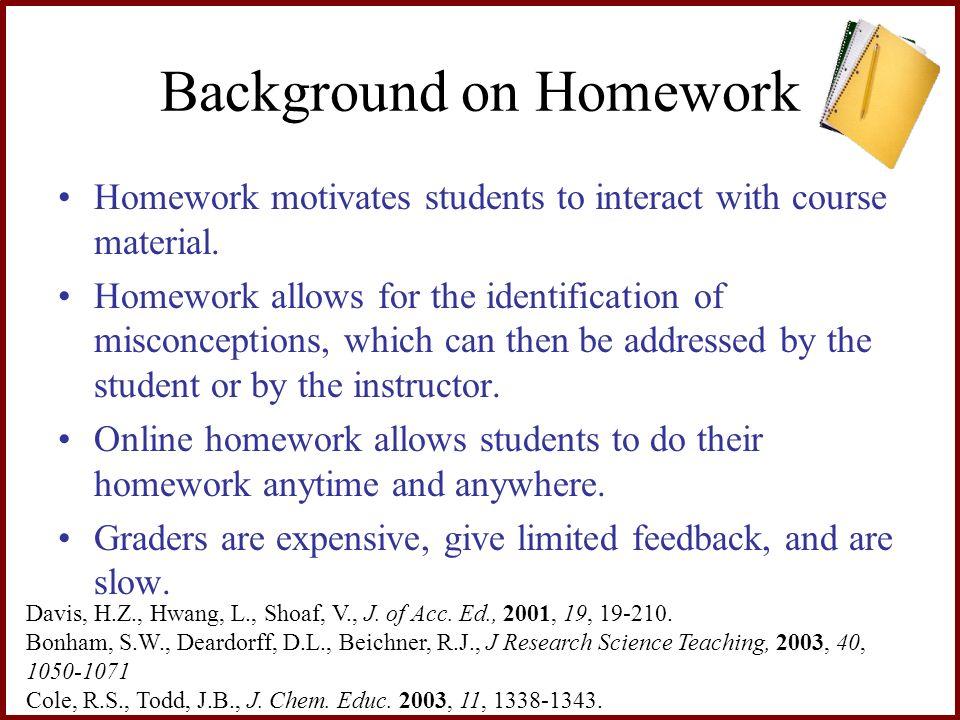 Background on Homework