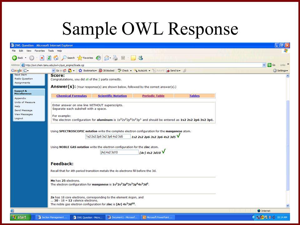 Sample OWL Response