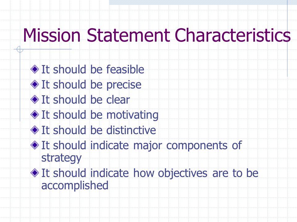 Mission Statement Characteristics